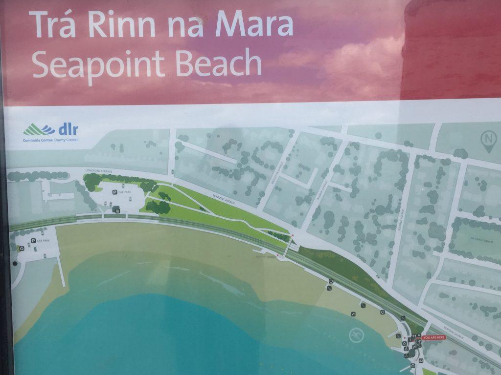 Seapoint is popular beach in Dublin Bay