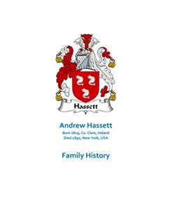 Hassett Andrew Family History