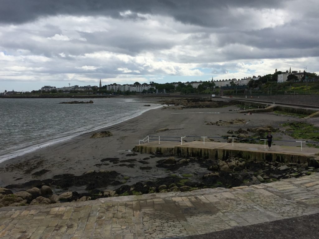 View from Seapoint Martello Tower over beach