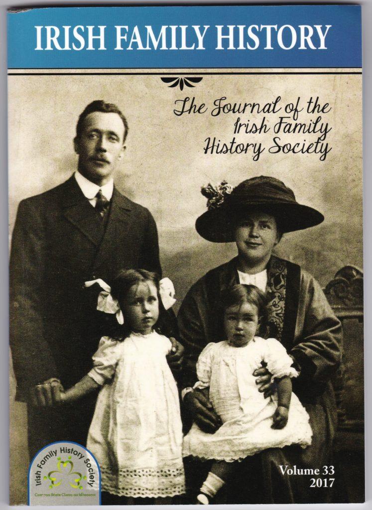 Jillian van Turnhout published in Irish family history ...